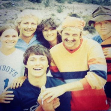 Chuck & Lindy with the original staff (1983).